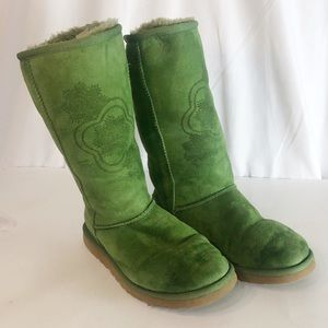 Ugg Green Suede Boots 6